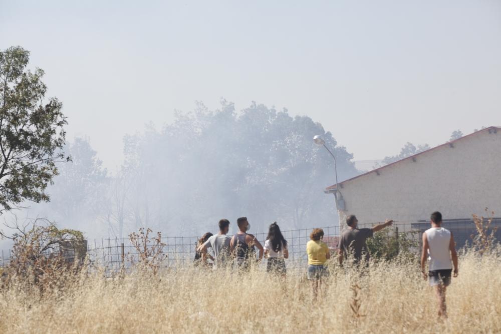 Incendio en San Cristóbal de Segovia.