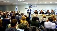 El presidente del PP autonómico, Alfonso Fernández Mañueco, interviene ante cerca de doscientas personas en laJunta Directiva Autonómica del partido.