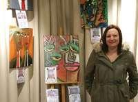 Abigail Herrero expone en la Casa de Cultura de Herrera