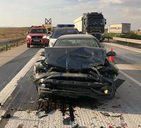 Accidente múltiple cerca de La Roda