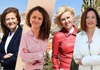 Candidatas del PSOE participan en un acto en Las Quinientas
