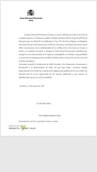 El PSOE soriano incumple la ley según la Junta Electoral