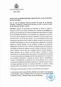 La Junta Electoral amonesta al Ayuntamiento de Los Rábanos