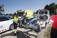 Fallece un motorista tras chocar con un coche en Castañares