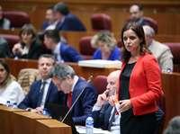 La portavoz delGrupo de Ciudadanos,Ana Carlota Amigo, ayer en las Cortes.