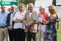 Francisco Igea, junto a varios consejeros de la Junta, en un acto celebrado esta mañana en Valladolid.