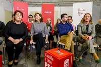 Carmen Calvo, el jueves en un acto del PSOE en Valladolid