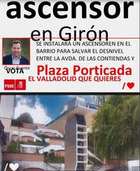 El PSOE propone ascensores en Girón, Parquesol y Pajarillos