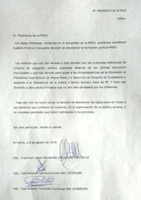 Javier Hernández formaliza su salida de la PPSO