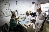 Imagen de una prueba de alergia en un centro médico de la Comunidad.