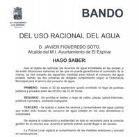 Restricciones de agua en El Espinar por la sequía