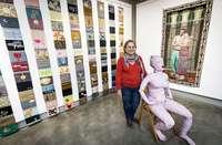 Mayra Alpízar expone su trabajo textil en el Consulado