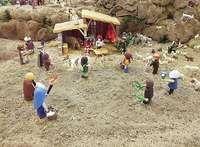 Un belén de Playmobil para el proyecto Mater de Cáritas