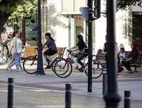 El 38% de los ciclistas multados transitaba por aceras