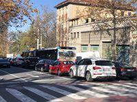 Ocupación completa y problemas para circular en Segovia