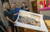 El Ayuntamiento regala mil láminas de una panorámica de 1865