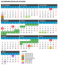 Calendario escolar 2019-2020: festivos, puentes y vacaciones