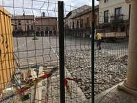 Arranca la obra para revitalizar la plaza Vieja de Saldaña