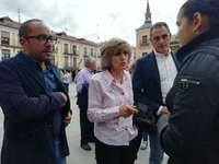 La ministra de Sanidad ampara el centro de salud en El Burgo