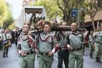 Los Legionarios llevaron al Cristo ante la Guardia Civil