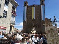 La Virgen de los Milagros recibe a miles de fieles en Ágreda