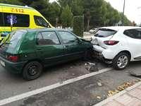 Dos heridos en un accidente de tráfico