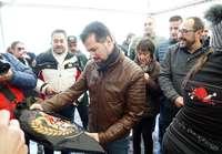 El secretario regional del PSOE, Luis Tudanca, visita la concentración Motauros 2020.
