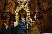 El consejero de Cultura y Turismo, Javier Ortega, visita la Colegiata de Santa María del Mercado de Berlanga de Duero.