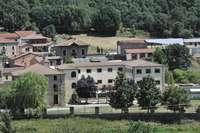 Edificio que albergaba el campamento soriano.