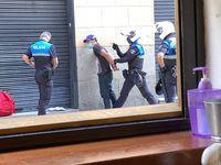 Detención del 'Lagartijo' en la calle de los Bares