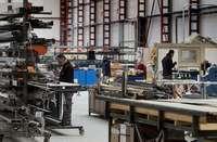 Imagen del interior de una fábrica instalada en la provincia de Burgos.