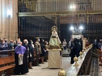 Recibimiento a la Virgen de la Fuencisla en la Catedral