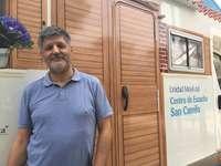 Valentín Rodil, responsable de la Unidad Móvil de atención en crisis y duelo en el Centro de Escucha San Camilo.