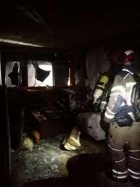 Estado de la vivienda cuando entraron los bomberos.