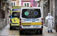 Imagen de archivo de ambulancias en plena crisis sanitaria.
