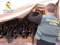 Arrestan a nueve personas por robar 3.600 kilos de cable