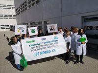 SATSE Soria se concentra para exigir la jornada de 35 horas