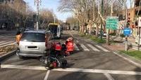 Una motorista herida al chocar contra un coche en Zorrilla