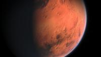 Detectan lagos de agua salada bajo el polo sur de Marte