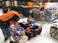 Más de 250 familias recibieron la compra en el confinamient