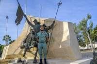 Imagen del caballero legionario albacetense, Alberto Navalón.