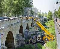El puente viejo de Saldaña se reabrirá al tráfico la primera