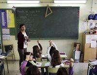 Un grupo de alumnos, durante una actividad en un aula de primaria.