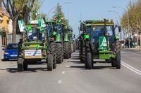 Tractorada contra la criminalización del sector agrario
