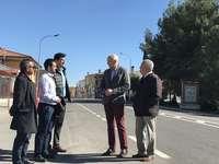 Visita a las obras de la travesía de Villar de Olalla