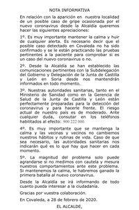 El Ayuntamiento de Covaleda hace una llamada a la calma