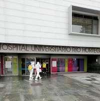 Trabajos de desinfección del hospital Río Hortega en Valladolid, hace unos meses.