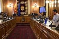 La Diputación celebró su primer pleno por vía telemática de la historia