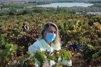 Eva Hita, consejera de Agricultura, en finca La Grajera