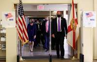 Trump vota por anticipado en Florida
